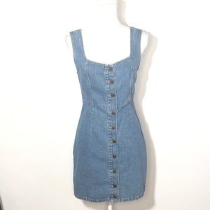 Urban Outfitters Button Down Denim Dress NWT